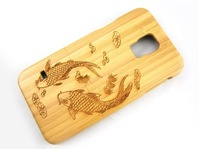 Engraved bamboo case for Samsung galaxy S5