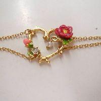 fashion bracelet for women 2014 hot selling Peach heart drops of oil rose bracelet girls love best