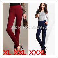 XL XXL 3XL women pants 2014 new fashion plus size women work wear high waist pants slim pencil pants trousers free shipping
