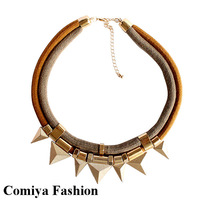 New gold chain punk collar fashion brand vintage statement necklace necklaces pendants antique costume jewelry collares 2014
