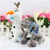 Christmas gift 20cm 25cm Frozen  Adventure  Reindeer gentle Sven Plush toy doll Frozen Olaf Plush Doll Child toy