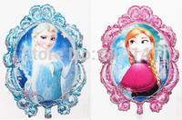 10pcs/lot princess frozen balloon supplies happy birthday decoration Anna&Elsa foil balloons for party aluminum mirror