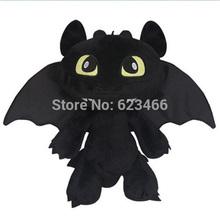 Free Shipping Gragon 2 Night Fury Plush Toy How To Train Your Dragon 2 Plush Toy 30CM Toothless Dragon Stuffed Animal Dolls(China (Mainland))