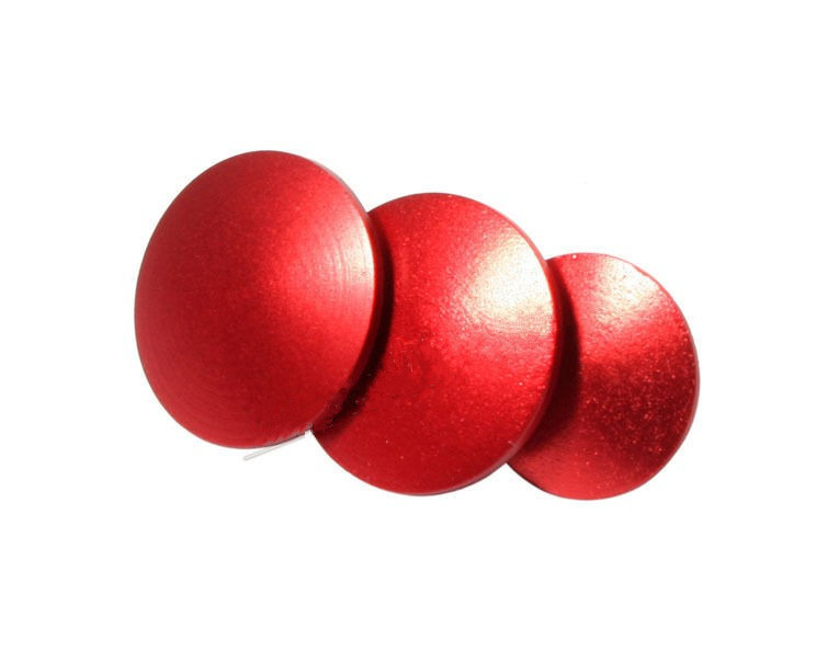 F09101-5 15pcs Aluminum Anodized Color Button For Gopro Hero 3+ HD 3+ Color Red(China (Mainland))