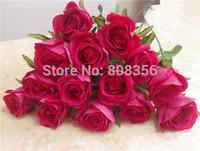 "Velet Roses Artificial Flowers Single Rose 67cm/26.4"" Length 48Pcs  for Wedding Flower Home Christmas Showcase Party Decorations"