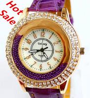 New Relogios Fashion Casual Quartz Watches Clock Hours Leather Rhinestone Women Dress Watches Brand Gogoey Ladies' Wristwatches