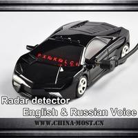 Car shape detector Car Radar Detector with LED Display Russian Version/English Version Lambo free shipping