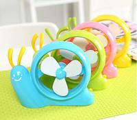 1350 No tracking number Snail shape small usb fan novelty USB gadgets mini usb fan