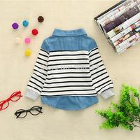 Fashion  striped  girl  long sleeve  Children clothing,S-XL,4pcs/iots,Free shipping
