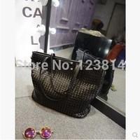 Bolsas Femininas Korean Style Desigual Women Fashion Plaiting Plaids Big Volume Carhartt Shopping Shoulder Bag N-JG 017