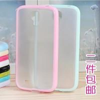 For  for SAMSUNG   s4 i9500 i9508 translucent scrub silica gel mobile phone protective case