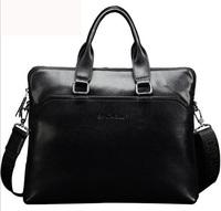 Sale 2014 Genuine Leather Men Messenger Bags Shoulder Bag Large Briefcase Business Computer Bag Fashion Men's Travel Bags B577