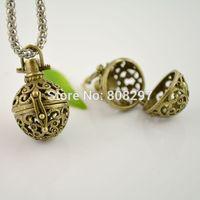 DIY 30X European Charm Pendants Hollow Magic Wish Box Bronze Tone Finding