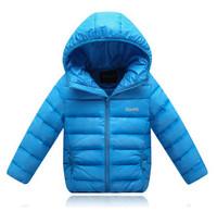 2014 children jackets winter boys and girls thick duck down liner coats brand kids warm parkas zipper outerwear with a hood