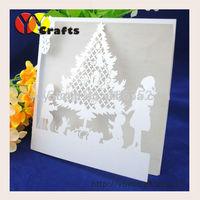 Unique craft paper party decoration happy christmas card