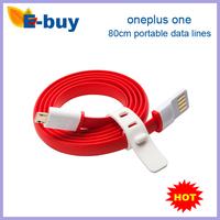100% original oneplus one 80cm straps portable data lines