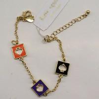 fashion bracelet for women 2014 hot selling Color hollow out hearts bracelet  girls love best