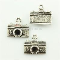 50pcs 15*14mm camera charms antique silver tone pendant