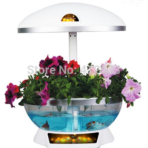 Indoor inteligente jardim crescer muitas flores de plantas legumes como uma lâmpada de(China (Mainland))