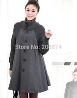 2014 Autumn winter woolen thickening cashmere overcoat outerwear fashion raccoon fur hooded medium-long woolen overcoat TP6