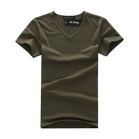 2014 Most popular fashion summer mens t shirt short sport t-shirts men fitness brand V-neck sport t-shirt slim free shipping