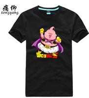 Dragon Ball T-shirt Anime Majin Buu Cosplay T Shirt Fashion Men Women Clothes Plus Size Cotton Tshirt Top