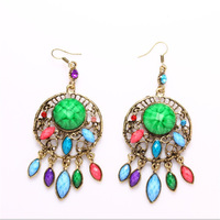 Palace retro pop classic lace drop earrings crystal earrings manufacturers wholesale and retail trade