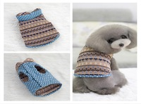 Knitted jacquard fabrics With denim white spots Double-sided wear Dog Clothing Pet Apparel