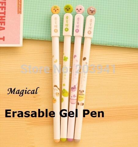 Cute Cartoon sunny dolls creative design erasable gel pen 0.5mm Black Ink promotion pen/Fashion Gifts/school supplies 40Pcs/Lot(China (Mainland))