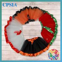 48 PCS/lot Free Shipping Latest Design Fashion Tulle Skirt Mini Cute Christmas Halloween Girls Red Skirt