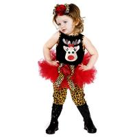 5set Children girl's set 2014 summer Christmas deer sleeveless TUTU dress +Leopard grain legging +hairband 3-piece/set 17819