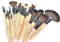 wholesale 2014 Professional wood color  24 pcs Makeup Brush Set Tools Brand Make Up Brushes  Kit With Case Tools & Accessories