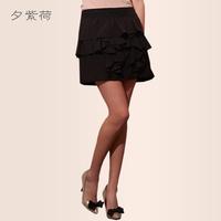 2014 autumn new arrival gentlewomen ruffle patchwork tent short skirt bust skirt female h512521