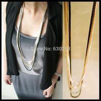 Vintage Retro Silver 4 layer Long Tassel Pendant Necklace Sweater Chain  Necklaces Vintage Multi-Layer Long Necklace