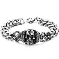 Free Shipping  New Arrival 316L Stainless Steel Skull Bracelets For Women, Fashion Skull Men Bracelets SS042B