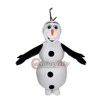 Free Shiping Customized New Arrival Frozen Snowman Olaf Mascot Costume for Adult