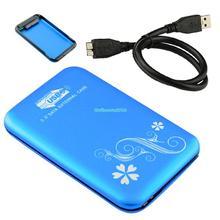 """EL5005 DURABLE USB 3.0 HDD HARD DRIVE EXTERNAL ENCLOSURE 2.5"""" SATA HDD CASE BOX BLUE(China (Mainland))"""