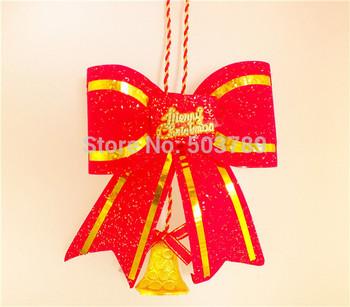 горячая продажа 1pc моды красный очаровательная лук роёдество украшение украшения рождественской елки