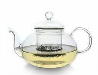 Perfect Clear Heat Resistant Borosilicate Glass Teapot & Infuser for loose tea or display tea