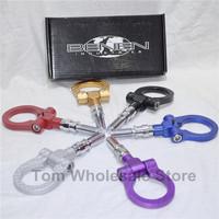 New BENEN-0186 Tow Hook  a pcs/color:red,blue,black,Purple,golden, sliver tow hook with carbon fiber pattern