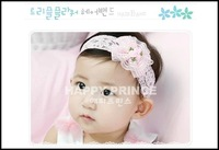 2014 Newest Min Order $10-Baby Hair Accessories For Girls Lace Fower Hairband Beautiful Headban Infant Headbands Free Shipping