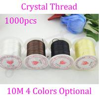 1000pcs/rolls/spools 0.8mm, 10m Crystal Elastic Stretchy String Thread Hair Extension Thread/Wires free shipping