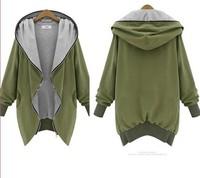 New Women Brand Autumn Winter Cotton Trench Hooded Zipper Long Sleeve Coat Big Yards Slim Women Jackets High Quality 110346