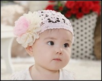 New 2014 Min Order $10-Infant Headbands Baby Hair Accessories For Girls Floral Hairband Beautiful Lace Headband Free Shipping