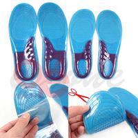 feet care 1 pair men women orthotic arch support sport shoe gel massaging insole run pad