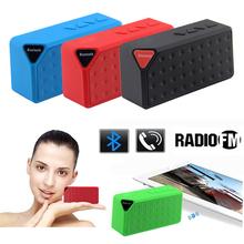 Manos libres portátil inalámbrico de radio FM TF Mini altavoz X3 Bluetooth micrófono incorporado MP3 Subwoofer con batería desmontable 2014 Nuevo(China (Mainland))