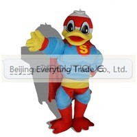 2014 Hot selling Adult cartoon lovely  blue cloth duck mascot costume fancy dress party costume adult size