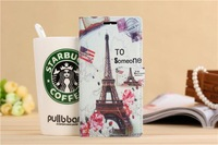 Rose and Eiffel Tower  Design Cartoon style Flip Cover with card packet stand Case for Xiaomi M4 mi4  Free shipping
