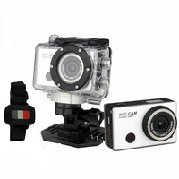 Free Shipping 5.0MP Full HD 1080P Underwater 30M Action Sport Camera CAM WiFi DV Camcorder DVR F21 with Watch Remote