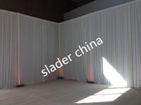 4m x 8m  white Silk Wedding Backdrop party wedding  backdrop  drapes curtain